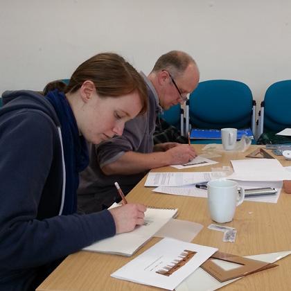 Teaching students at The John Gray Centre, Haddington.