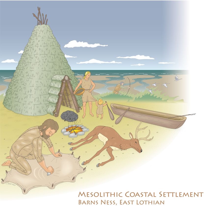 Mesolithic Scene, Barns Ness
