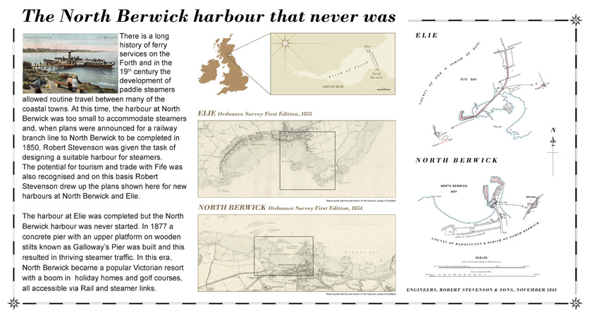 Stevenson's North Berwick harbour plans